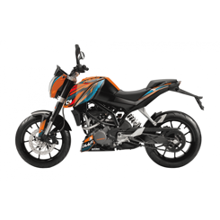 Decal Sæt Til KTM Duke 125 / 200 / 390 BlackBird - One Race