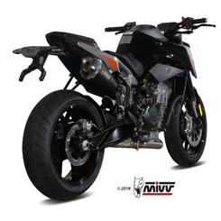 "KTM Duke 790 årg. 2018- MIVV Delta Race ""Black"" Slip-on Udstødning"
