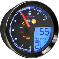 Koso HD-04 Type 1 Harley Davidson Multifunktion Speedometer Sort